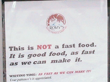 This is NOT a fast food