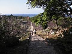 平郎門から大庭まで続く「七五三の階段」